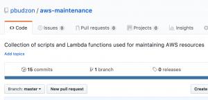 AWS maintenance github repository