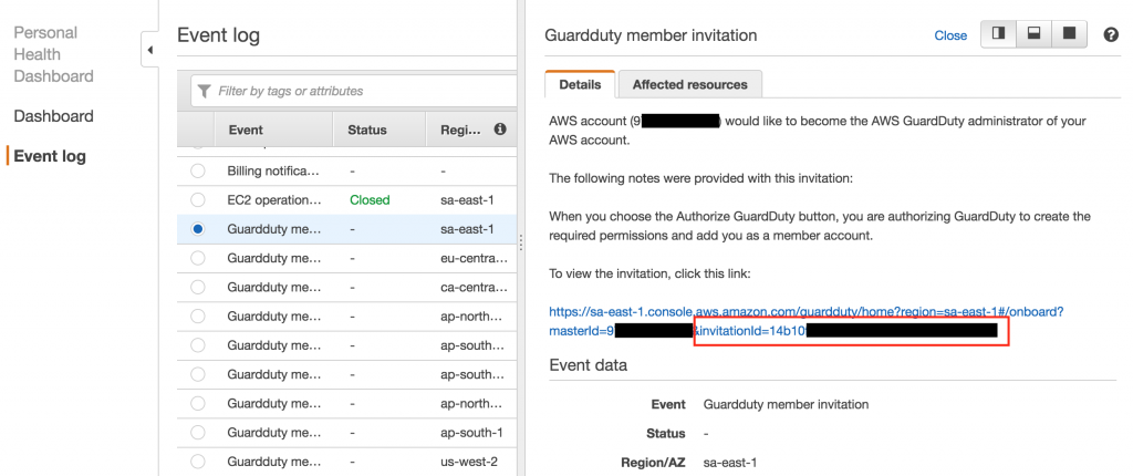 guardduty phd invite